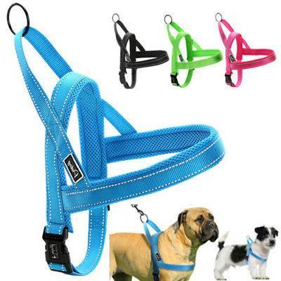 No Pull Dog Harness Reflective Stitching Quick Fit Nylon Sma