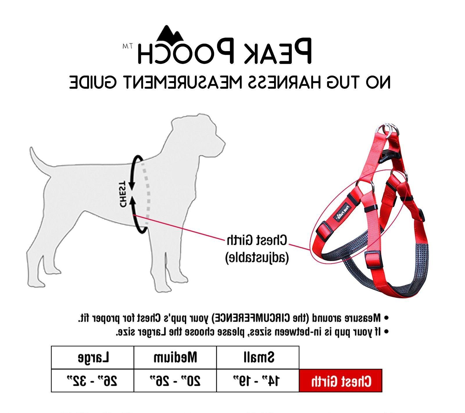 No Pull Nylon Dog Harness for Large