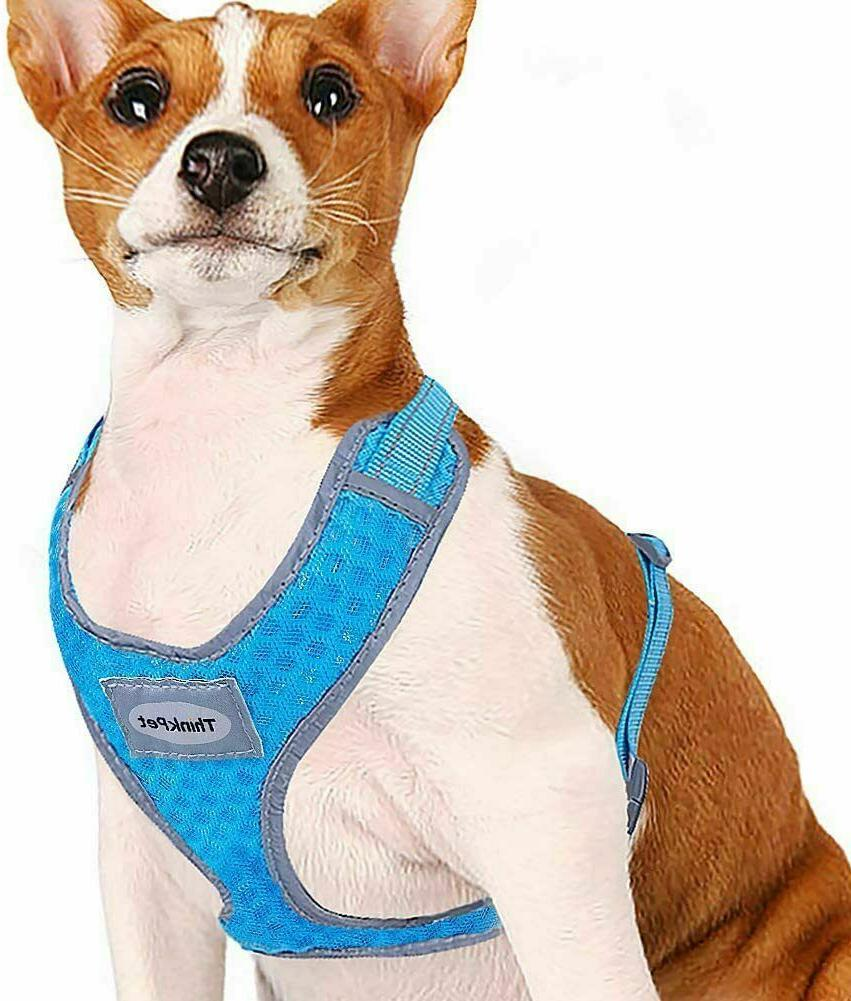 No Pull Puppy Harness Reflective Breathable Soft Air Mesh Ve