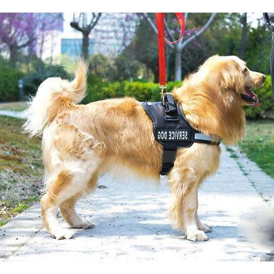 Nylon Comfort Reflective Service Dog Harness Adjustable Vest
