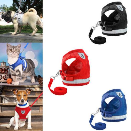 Pet Harness Cat Soft Walk Collar Safety Vest