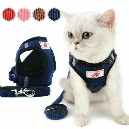 Harness Soft Walk Collar Safety Leash Set