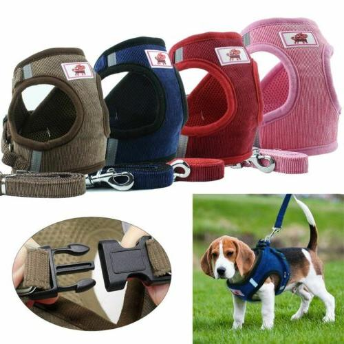 small dog cat breathable mesh harness vest