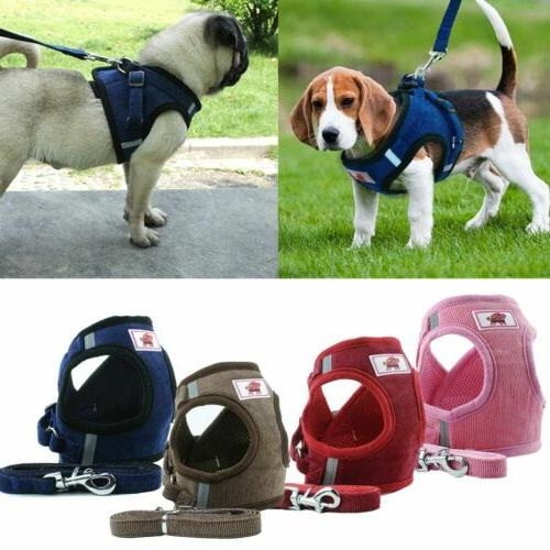 Small Dog Cat Mesh Harness Vest Collar Chest Strap Size XS-XL