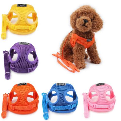 Pet Dog Cat Puppy Harness Lead Set Teacup Mini Puppy Chihuah