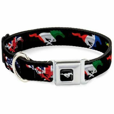 Pet Dog Collar Leash Harness Mustang Silhouette Black Int'l