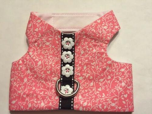 Pink Bird Spiral Harness Vest Dog - XS
