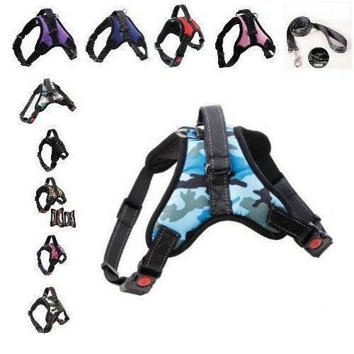Pull Adjustable Nylon Small Large Medium Vest Harness Leash