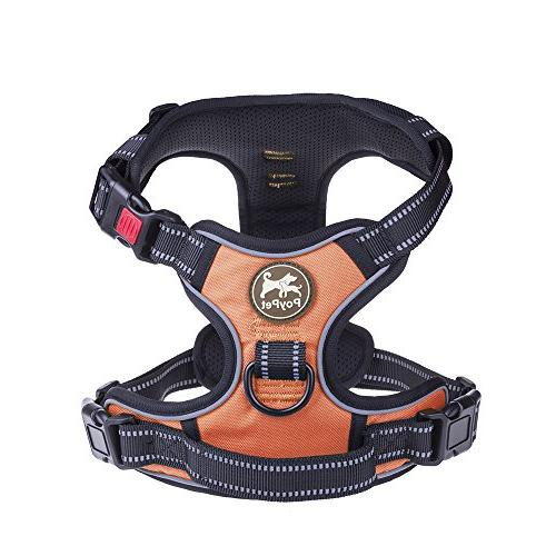 PoyPet Harness, Lead Harness, Adjustable Soft Padded Vest with Handle Medium Large Dogs