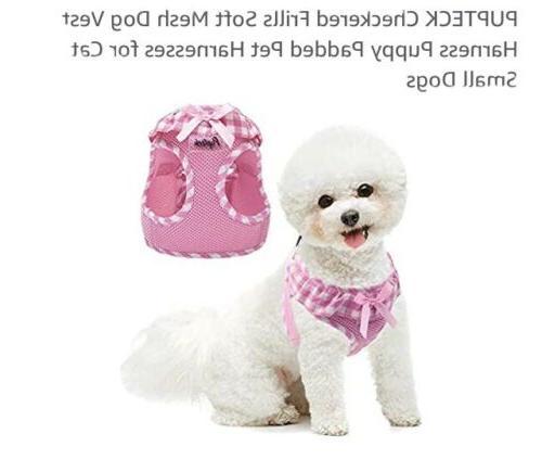 pupteck checkered frills soft mesh dog vest