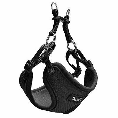 PUPTECK Harness Small Dogs - Adjustable Mesh S Black