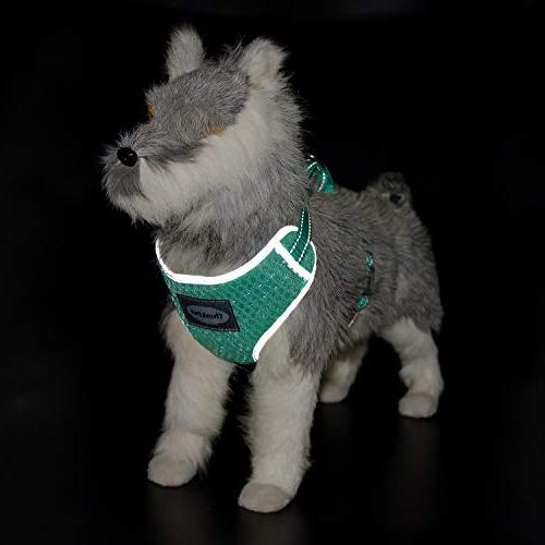 ThinkPet Breathable Air Puppy Harness Neon Neck 15-20""