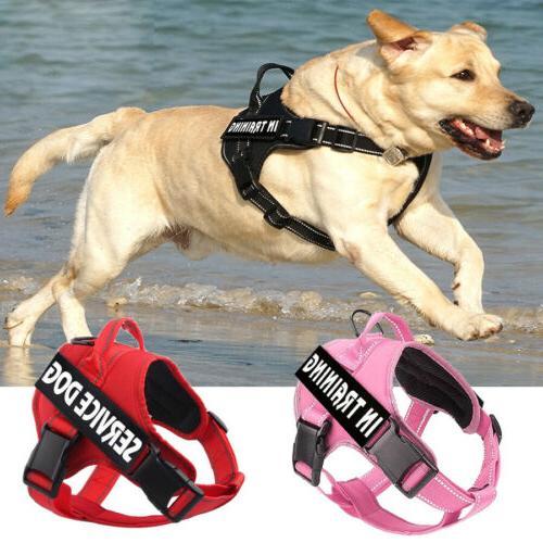 service dog no pull harness reflective pet