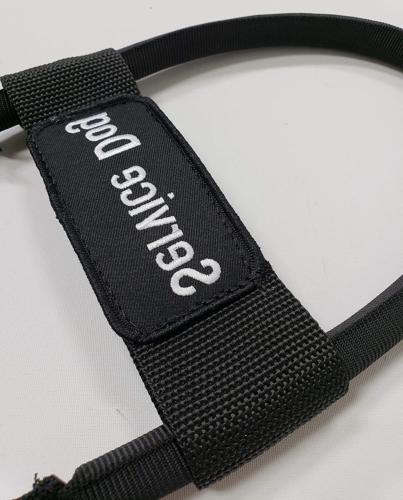 "Service Dog Harness ActiveDogs Nylon Clip-on Bridge 12"" Black"