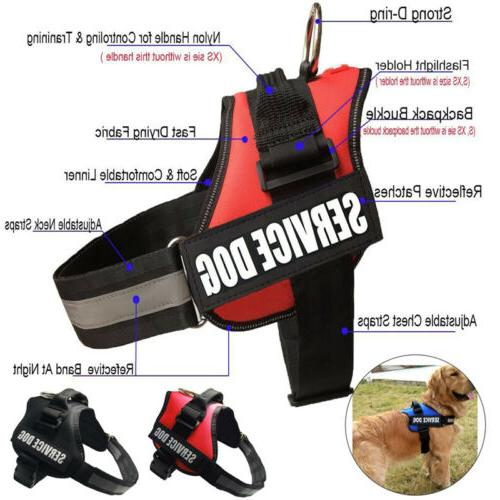 service dog vest harness adjustable patches reflective