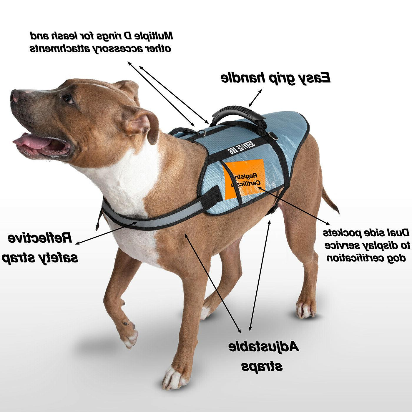 Service Dog Vest All Breed Handle