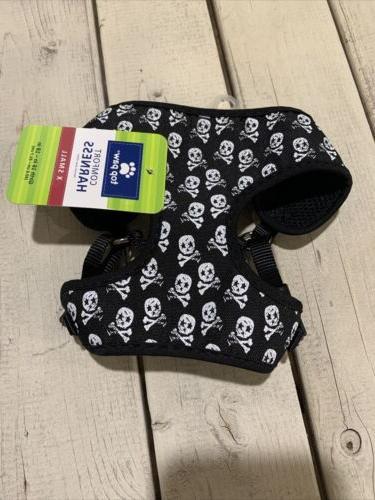skulls dog puppy harness xs