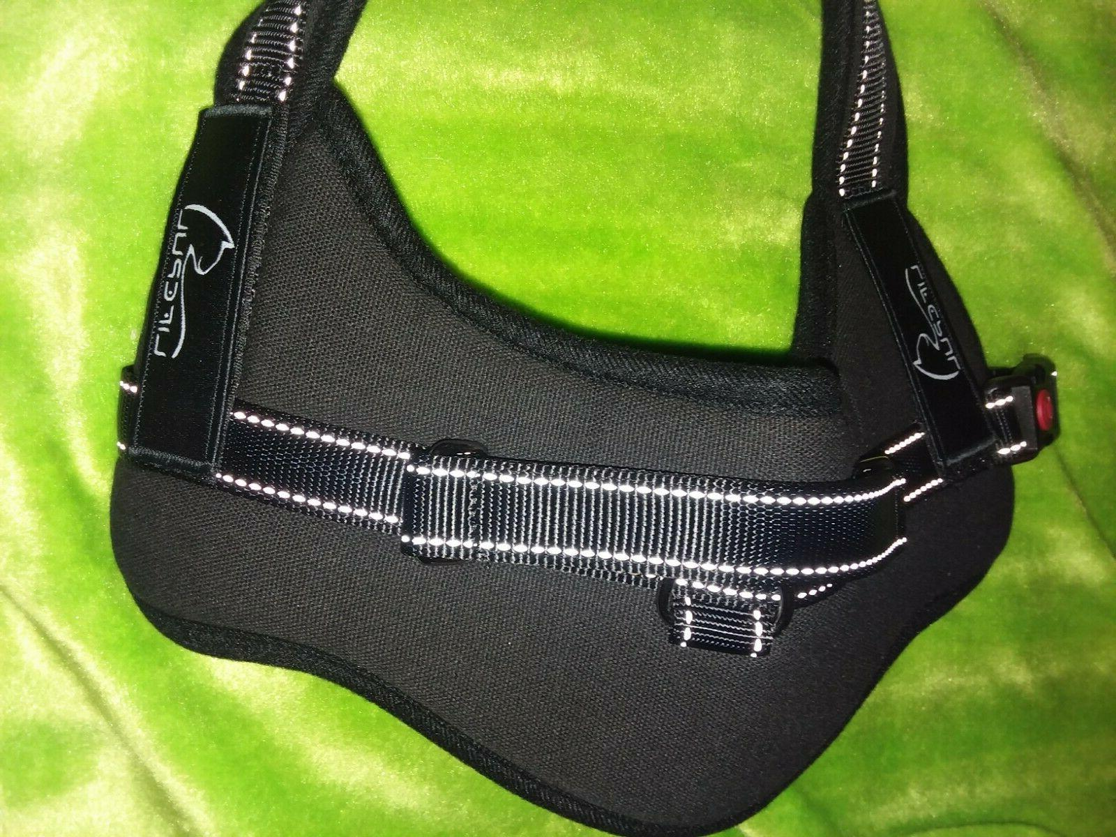 Small black Pull Dog Vest Harness Padded Mesh Nylon