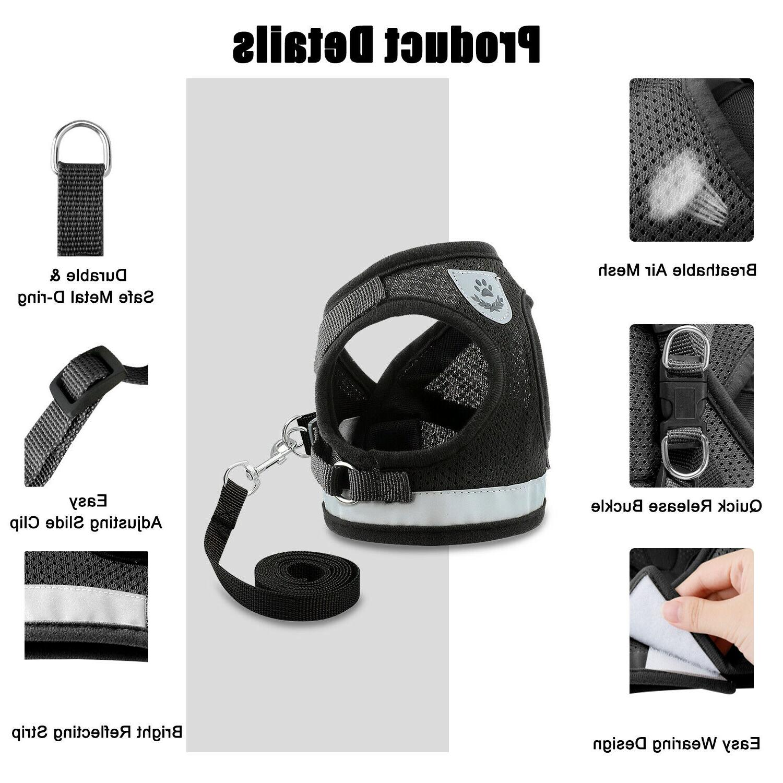 Small Breathable Mesh Vest Soft strap Leash Reflective