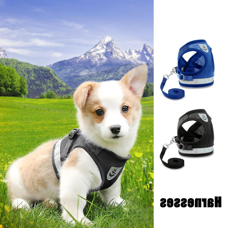 Small Dog Puppy Mesh Vest Collar Soft strap