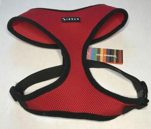 soft dog harness red x large