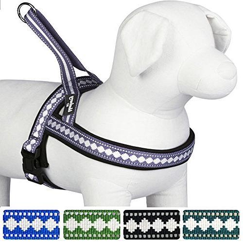 soft jacquard padded dog harness
