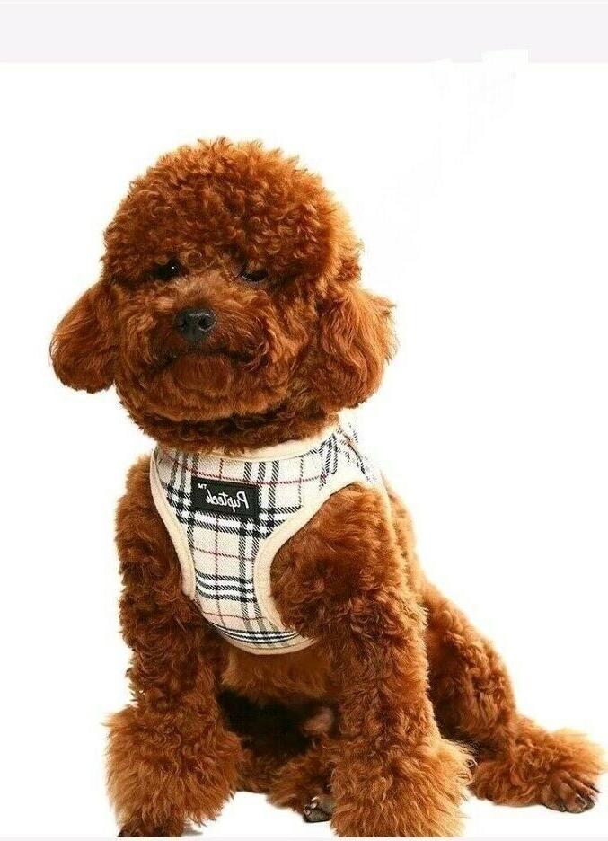 soft mesh small dog harness nova check