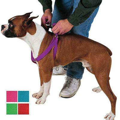 STEP IN DOG HARNESS ADJUSTABLE NYLON HARNESSES EASY TO USE W