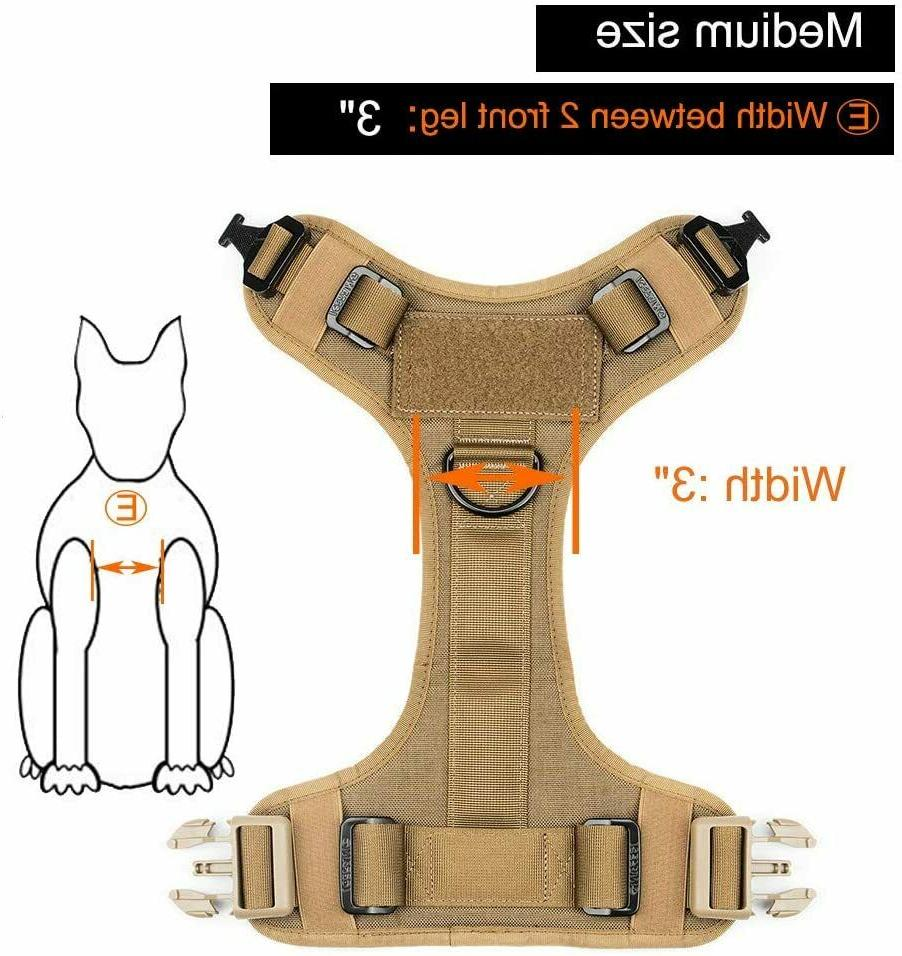 Tactical Harness Handle No-pull Large Dog US Working Dog