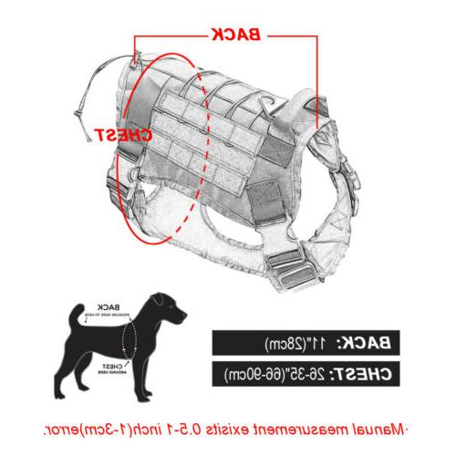 US Police K9 Tactical Training Dog Harness Adjustable Molle Nylon