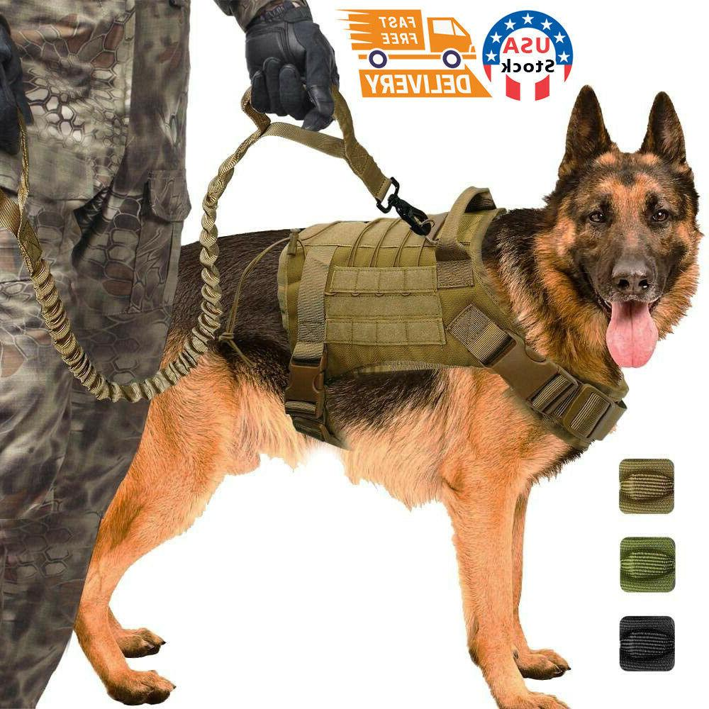 tactical police k9 training dog harness military
