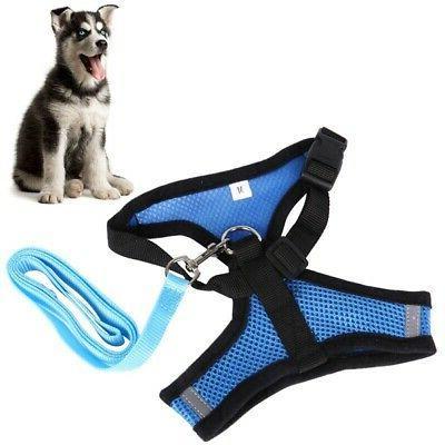 US Mesh Breathable Harness Puppy Adjustable Leash Vest 3