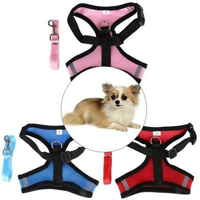 Adjustable Breathable Mesh Small Dog Cat Pet Harness Leash C