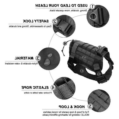 US Police Tactical Training Harness Adjustable Nylon Vest