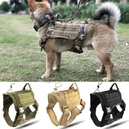 Police Training Dog Harness Adjustable