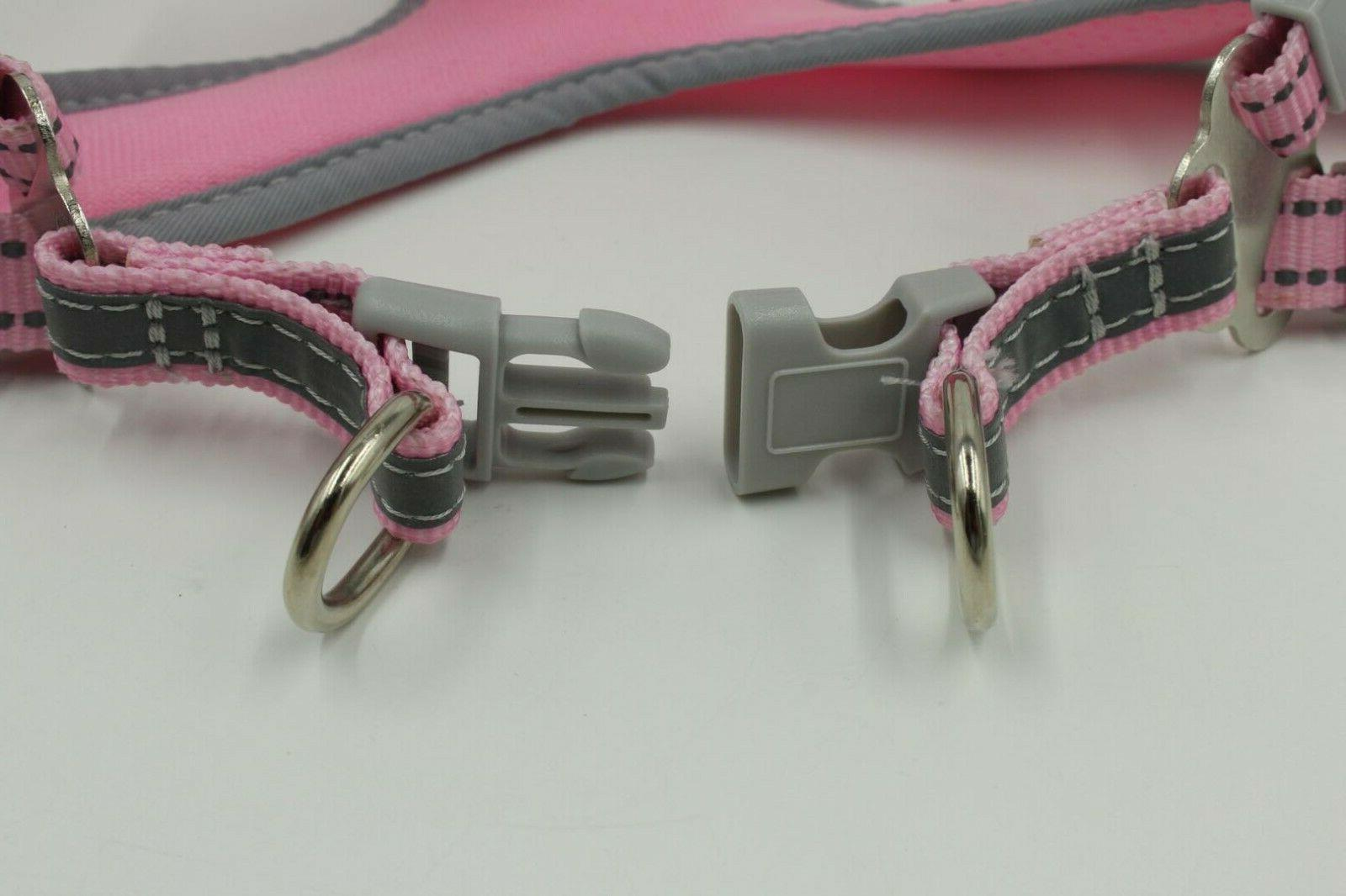USA Reflective Harness Leash Collar No Pull Adjustable XS-L