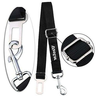 : 2 Packs Adjustable Car Seat Belt Safety Leads