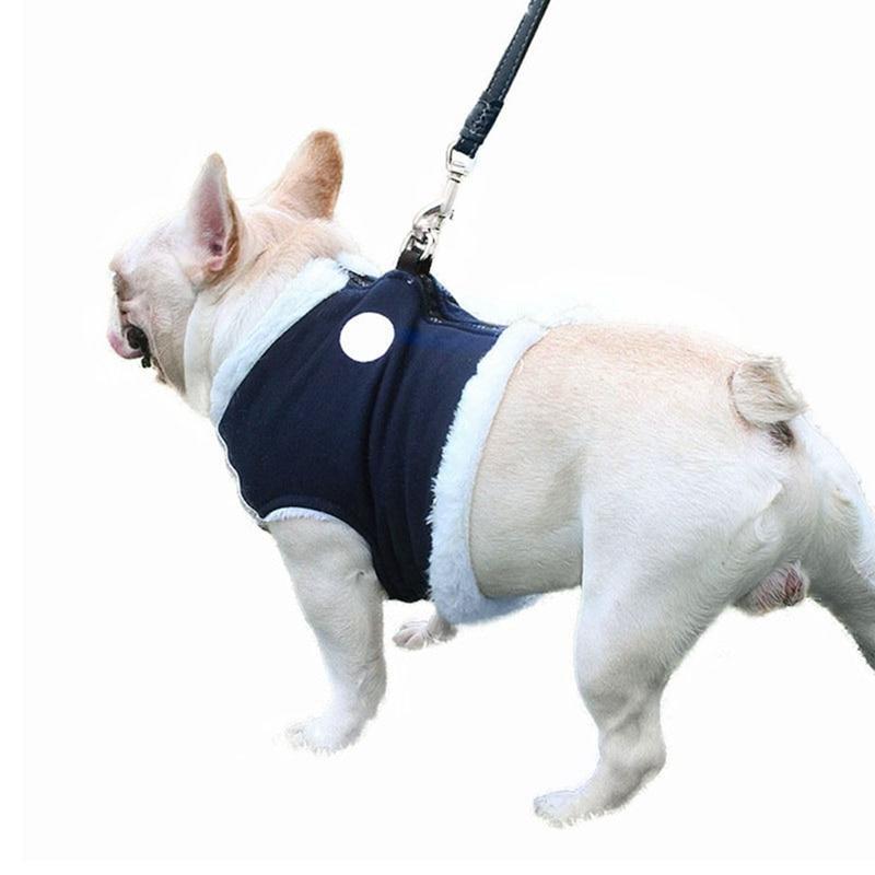 Warm Vest Traction Pet Puppy Pug Leash