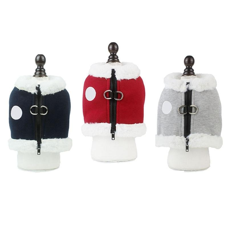 Warm Pet Vest for Traction Pet Pug Collar Leash