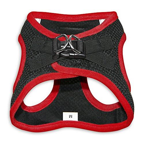 Pull Step-in Harness with Padded Best Pet Supplies, Medium, Red