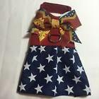 Wonder Woman Handmade Dog Harness Vest Size XXS  Halloween C