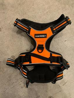 RABBITGOO L Size No-Pull Adjustable Dog Harness Orange and b