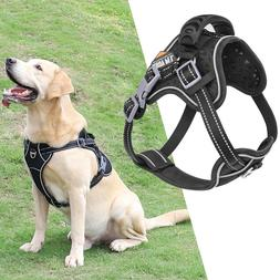 Large Dog Harness Walk No Pull Vest Tactical Heavy Duty K9 H