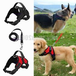 Large Dog Leash Harness Adjustable Pet Safe Control Training