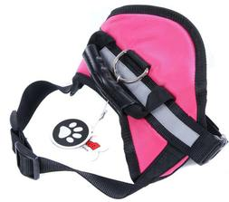 BingPet Large Dog Vest Pet Soft Padded Harness Reflective As