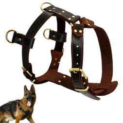 large leather dog harnesses heavy duty pet
