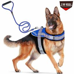 Large Padded Dog Harness Training Vest w Leash Set Comfortab