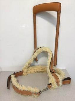 LEATHER  SHERPA SERVICE DOG MOBILITY SIZE LARGE HARNESS