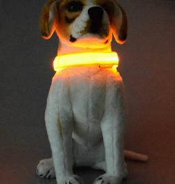 LED Dog Collar Visible LED Light Collar Used for Safe Walkin