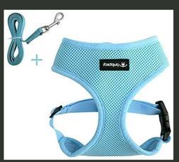 PUPTECK Light Blue Soft Mesh Dog Harness Vest No Pull Harnes